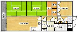 ライオンズマンション西霞町[602号室]の間取り