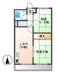 メゾン志津[3階]の間取り