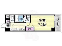 JR東海道・山陽本線 西大路駅 徒歩9分の賃貸マンション 7階1Kの間取り