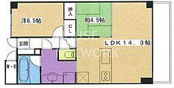 イーグルコート京都六角雅心庵[316号室号室]の間取り