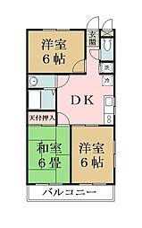 コーポウエタケII[306号室]の間取り