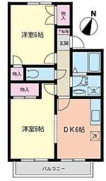 ウイズA[2階]の間取り