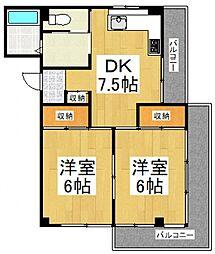 メゾン栄[2階]の間取り