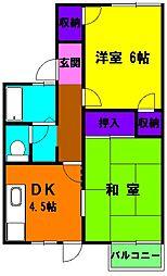 静岡県浜松市中区向宿1丁目の賃貸アパートの間取り