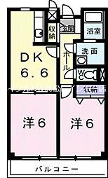 リフティ新浜II[2階]の間取り