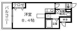 メモリアル博多[5階]の間取り