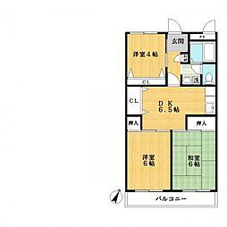 第11モロマンション[2階]の間取り