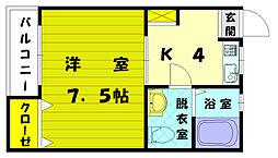 レイクサイド2[3階]の間取り