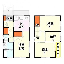 [一戸建] 東京都足立区東伊興2丁目 の賃貸【東京都 / 足立区】の間取り