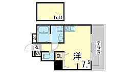 JR東海道・山陽本線 須磨駅 徒歩10分の賃貸マンション 1階ワンルームの間取り