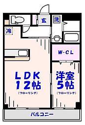 D-ポワール[201号室]の間取り