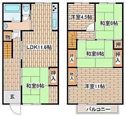 [テラスハウス] 兵庫県神戸市須磨区高倉台8 の賃貸【/】の間取り