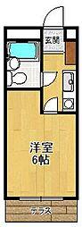 オーキッド夙川[405号室]の間取り