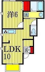 ウォルハイム[1階]の間取り