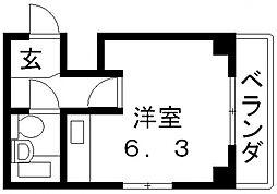 Vie八戸ノ里[302号室号室]の間取り