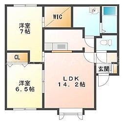 北海道札幌市東区北二十五条東5丁目の賃貸アパートの間取り