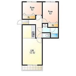 KDマンション1[3階]の間取り