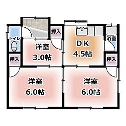 [一戸建] 愛知県北名古屋市徳重 の賃貸【/】の間取り