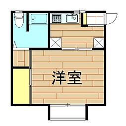 神奈川県川崎市中原区井田三舞町の賃貸アパートの間取り