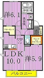 RealeB棟[2階]の間取り
