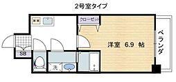南海線 住ノ江駅 徒歩4分の賃貸マンション 6階1Kの間取り