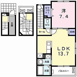 ローズコート[3階]の間取り