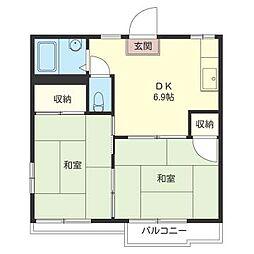 斉藤 コーポ[2階]の間取り
