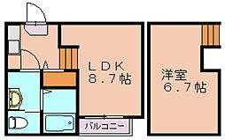 クレール ソレイユ[2階]の間取り