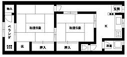 新神戸ハイツ[303号室]の間取り