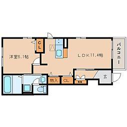 JR東海道本線 焼津駅 バス17分 石津西公園前下車 徒歩3分の賃貸アパート 1階1LDKの間取り