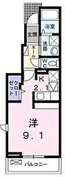 東京都三鷹市井の頭3丁目の賃貸アパートの間取り