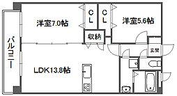 クレヴァフィルマンション[4階]の間取り
