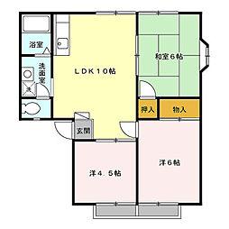 ウエストハイツ I・II[2階]の間取り