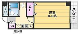 SHI-SA3番館 2階1Kの間取り
