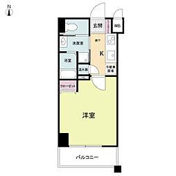 ラクラス大阪城[0102号室]の間取り