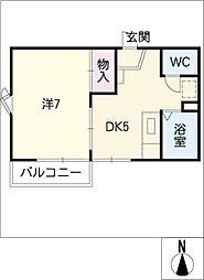 ミラハウスB棟[2階]の間取り