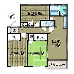 東京都町田市玉川学園3丁目の賃貸アパートの間取り