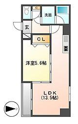 パルクメゾン鶴舞公園[2階]の間取り