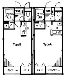 ポスト&ビーム木の家[C105号室]の間取り