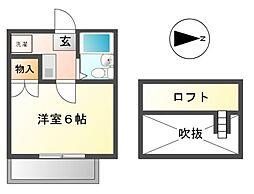 マ・メゾン東海通[1階]の間取り
