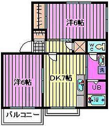 エクセルドリームタウンB[2階]の間取り