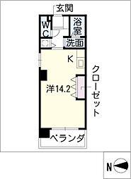 KDXレジデンス神宮前[6階]の間取り