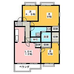 デュアルコート[2階]の間取り