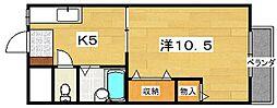 岡山手ハイツ[2階]の間取り