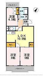 コンフォート鵠沼I[3階]の間取り