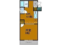 JR大阪環状線 森ノ宮駅 徒歩8分の賃貸マンション 5階1DKの間取り