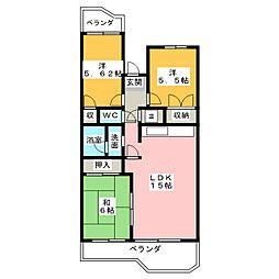 八事サンハイツ 505号室[5階]の間取り
