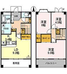 [テラスハウス] 兵庫県たつの市龍野町末政 の賃貸【/】の間取り