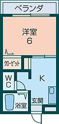 ニュードエル橿原Ⅱ[1階]の間取り