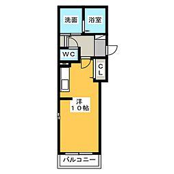 フェリシダージ[2階]の間取り